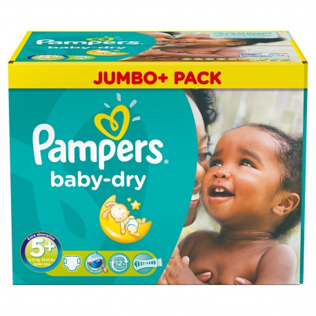 Pack jumeaux 672 Couches Pampers Baby Dry taille 5+ sur Promo Couches