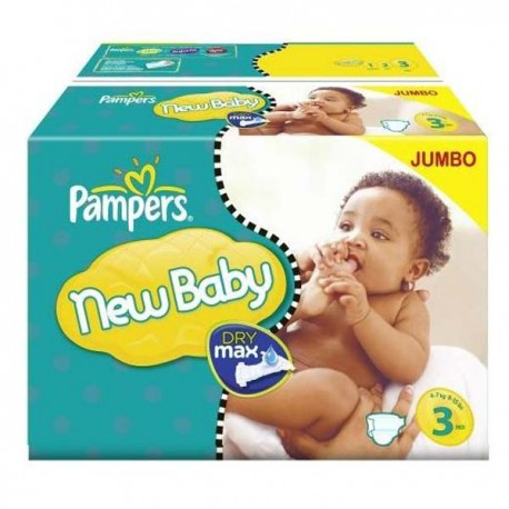Mega pack 120 Couches Pampers New Baby Premium Protection taille 3 sur Promo Couches