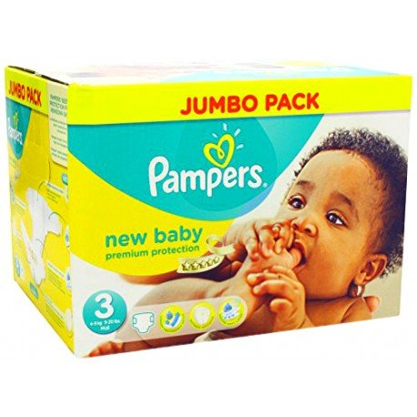 Mega pack 160 Couches Pampers New Baby Premium Protection taille 3 sur Promo Couches
