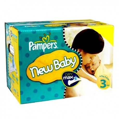Giga pack 220 Couches Pampers New Baby Premium Protection taille 3 sur Promo Couches