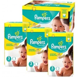 Maxi giga pack 340 Couches Pampers New Baby Premium Protection taille 3 sur Promo Couches