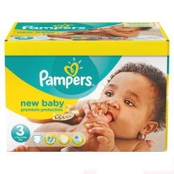 Maxi giga pack 380 Couches Pampers New Baby Premium Protection taille 3 sur Promo Couches
