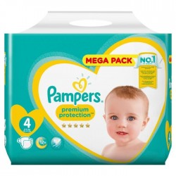 Pack 24 Couches Pampers New Baby Premium Protection taille 4 sur Promo Couches