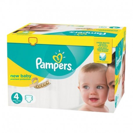 Maxi mega pack 408 Couches Pampers New Baby Premium Protection taille 4 sur Promo Couches
