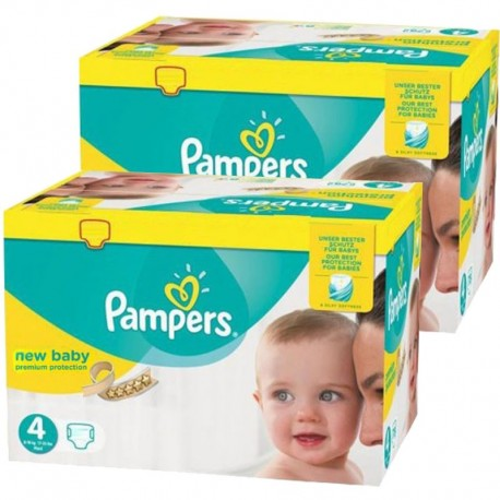 Pack jumeaux 528 Couches Pampers New Baby Premium Protection taille 4 sur Promo Couches