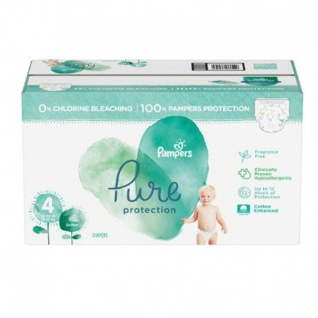 Mega pack 140 Couches Pampers Pure Protection taille 4 sur Promo Couches
