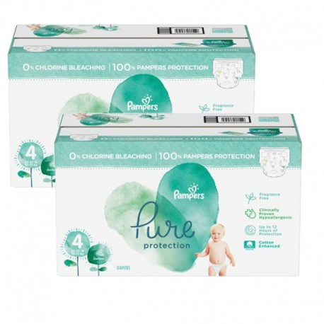 Maxi mega pack 420 Couches Pampers Pure Protection taille 4 sur Promo Couches