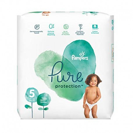 Pack 24 Couches Pampers Pure Protection taille 5 sur Promo Couches