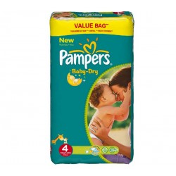 Pack 75 Couches Pampers Baby Dry taille 4 sur Promo Couches