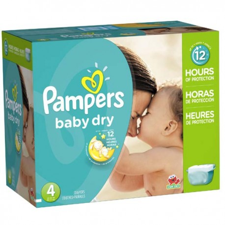 Mega pack 175 Couches Pampers Baby Dry taille 4 sur Promo Couches