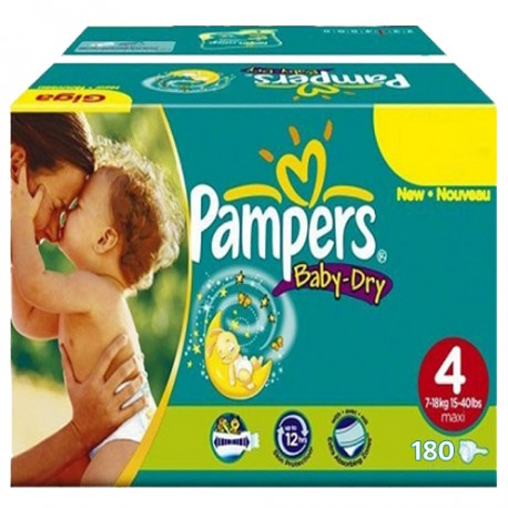 Pack jumeaux 625 Couches Pampers Baby Dry taille 4 sur Promo Couches