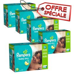 Mega pack 195 Couches Pampers Baby Dry taille 5