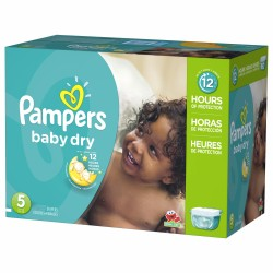 Maxi giga pack 312 Couches Pampers Baby Dry taille 5