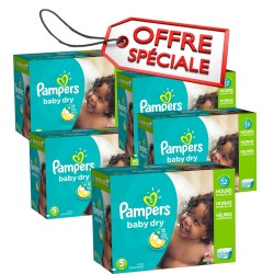 Maxi giga pack 390 Couches Pampers Baby Dry taille 5