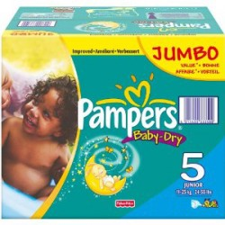 Mega pack 186 Couches Pampers Baby Dry taille 5