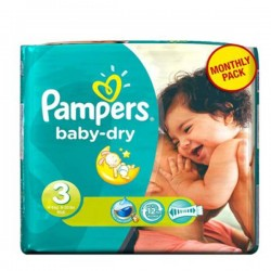 Pack 30 Couches Pampers Baby Dry taille 3 sur Promo Couches