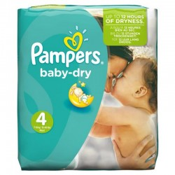 Pack 49 Couches Pampers Baby Dry taille 4 sur Promo Couches