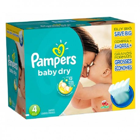 Mega pack 147 Couches Pampers Baby Dry taille 4 sur Promo Couches