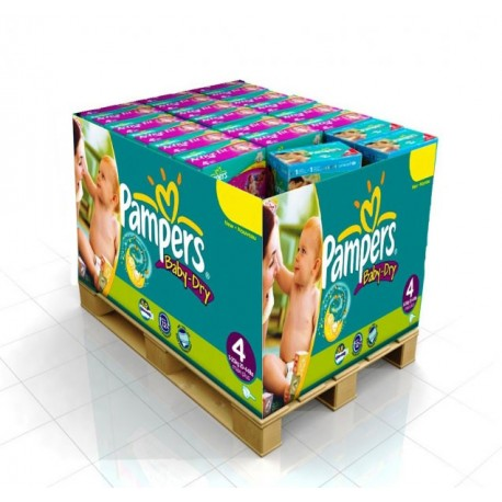 Giga pack 245 Couches Pampers Baby Dry taille 4 sur Promo Couches
