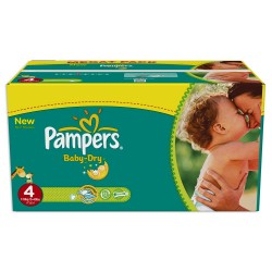 Pack jumeaux 637 Couches Pampers Baby Dry taille 4