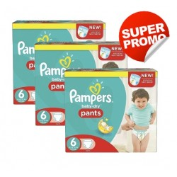 Pack 57 Couches Pampers Baby Dry Pants taille 6 sur Promo Couches