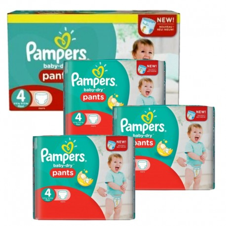 Pack jumeaux 574 Couches Pampers Baby Dry Pants taille 4 sur Promo Couches