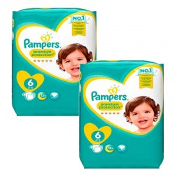 Pack 62 Couches Pampers New Baby Premium Protection taille 6 sur Promo Couches