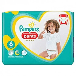 Pack 16 Couches Pampers Premium Protection Pants taille 6 sur Promo Couches