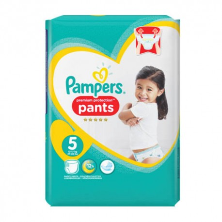 Pack 30 Couches Pampers Premium Protection Pants taille 5 sur Promo Couches