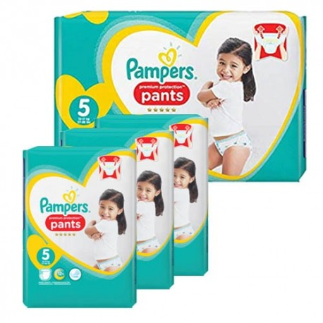 Pack 60 Couches Pampers Premium Protection Pants taille 5 sur Promo Couches