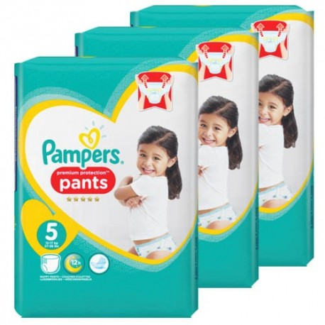 Pack 90 Couches Pampers Premium Protection Pants taille 5 sur Promo Couches