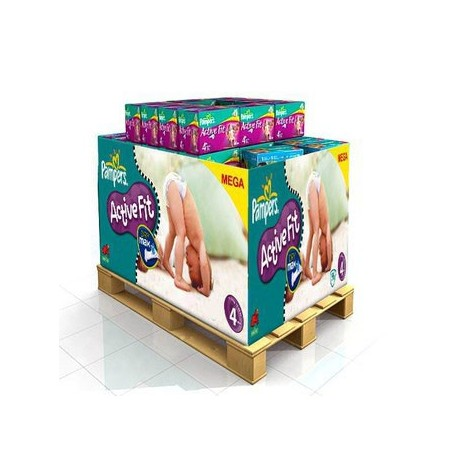 Pack jumeaux 800 Couches Pampers Active Fit Pants taille 4 sur Promo Couches