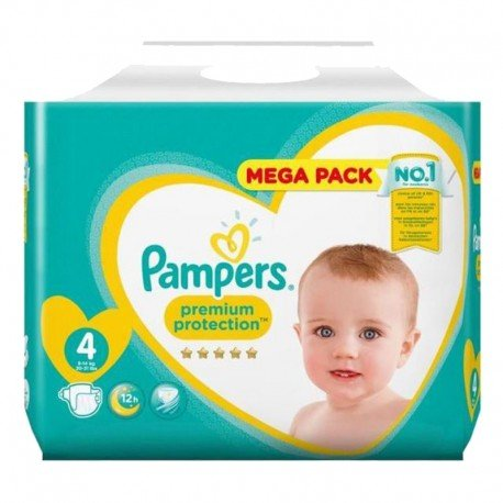 Pack 41 Couches Pampers Premium Protection taille 4 sur Promo Couches