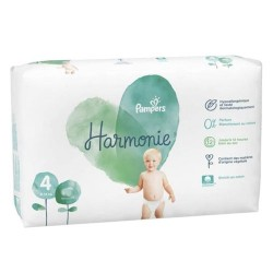 Pack 19 Couches Pampers Harmonie taille 4 sur Promo Couches