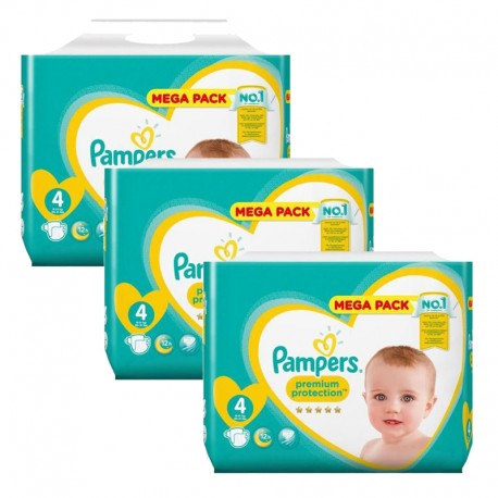 Pack 82 Couches Pampers Premium Protection taille 4 sur Promo Couches