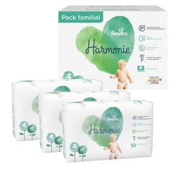 Pack 38 Couches Pampers Harmonie taille 4 sur Promo Couches