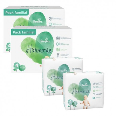 Mega pack 152 Couches Pampers Harmonie taille 4 sur Promo Couches