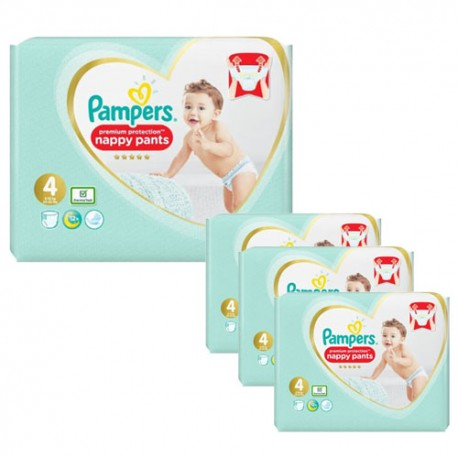 Pack 94 Couches Pampers Premium Protection Pants taille 4 sur Promo Couches
