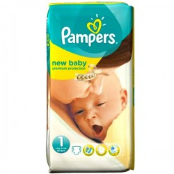 Pack 22 Couches Pampers Premium Protection taille 1 sur Promo Couches