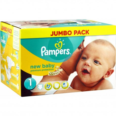 Pack 44 Couches Pampers Premium Protection taille 1 sur Promo Couches