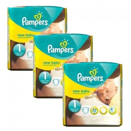 Mega pack 198 Couches Pampers Premium Protection taille 1 sur Promo Couches