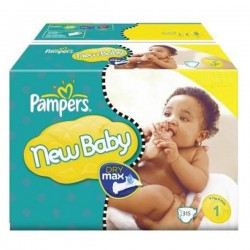 Giga pack 242 Couches Pampers Premium Protection taille 1 sur Promo Couches