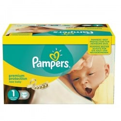 Giga pack 286 Couches Pampers Premium Protection taille 1 sur Promo Couches