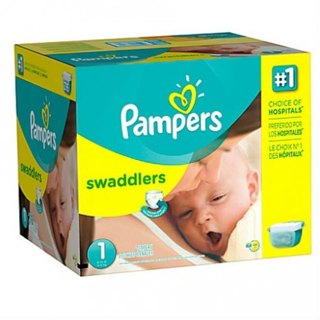 Maxi giga pack 308 Couches Pampers Premium Protection taille 1 sur Promo Couches