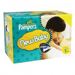 Maxi giga pack 374 Couches Pampers Premium Protection taille 1 sur Promo Couches