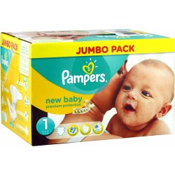Maxi giga pack 396 Couches Pampers Premium Protection taille 1