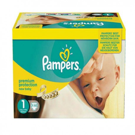 Maxi mega pack 418 Couches Pampers Premium Protection taille 1 sur Promo Couches