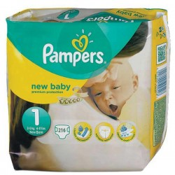 Maxi mega pack 440 Couches Pampers Premium Protection taille 1 sur Promo Couches