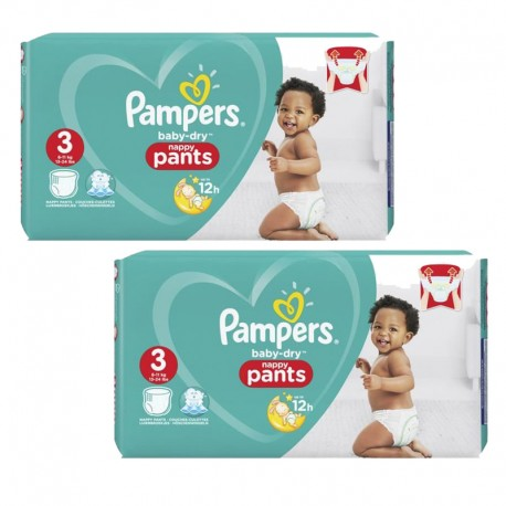 Mega pack 114 Couches Pampers Baby Dry Pants taille 3 sur Promo Couches