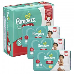 Giga pack 266 Couches Pampers Baby Dry Pants taille 3 sur Promo Couches